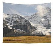 View Of Mt Eiger And Mt Monch, Kleine Tapestry