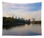 View Of Philadelphia From The Girard Avenue Bridge Tapestry