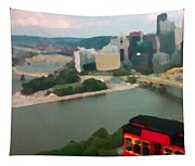 View Of Pittsburgh From Mt. Washington Tapestry