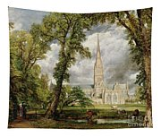 View Of Salisbury Cathedral From The Bishop's Grounds Tapestry