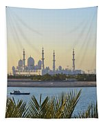 View Of Sheikh Zayed Grand Mosque Tapestry
