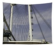 View Of Spokes Of The Singapore Flyer Along With The Base Section Tapestry