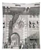 View Of The Door Of Okal Kaid-bey Tapestry