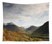 View Of The Glencoe Mountains Tapestry