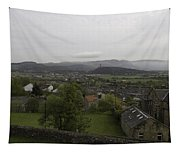View Of Wallace Monument And Houses And Surrounding Areas Tapestry