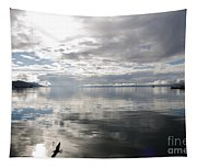 View Over The Ushuaia Bay In Tierra Del Fuego Tapestry
