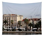 Views Of Split Croatia Tapestry