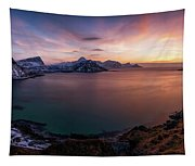 Vikbukta Bay With Vik And Haukland Tapestry