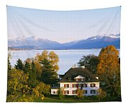 Villa At The Waterfront, Lake Zurich Tapestry