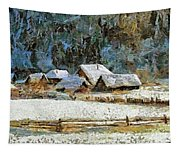 Village In Winter Tapestry