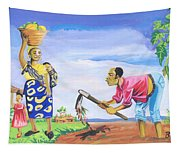 Village Life In Cameroon 01 Tapestry