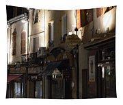 Village Nightscape Tapestry