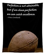 Vince Lombardi On Perfection Tapestry