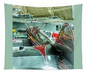 Vintage Airplane Comparison Tapestry