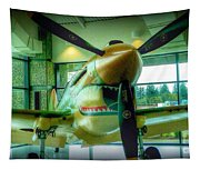 Vintage Airplane Three Tapestry