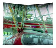Vintage Airplane Two Tapestry