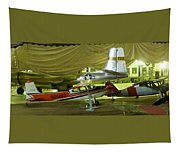 Vintage Airplanes Display Tapestry