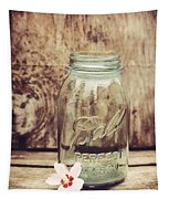 Vintage Ball Mason Jar Tapestry