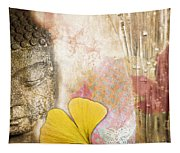 Vintage Buddha And Ginkgo Tapestry