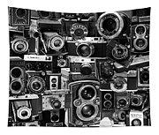 Vintage Camera Montage Tapestry