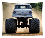 Vintage Chevy Monster  Tapestry