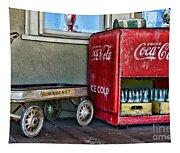 Vintage Coca-cola And Rocket Wagon Tapestry