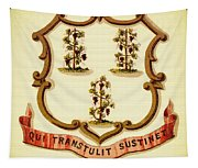 Vintage Connecticut Coat Of Arms - 1876 Tapestry