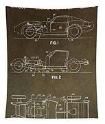 Vintage Corvette Patent Tapestry