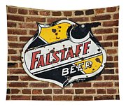 Vintage Falstaff Beer Shield Dsc07192 Tapestry
