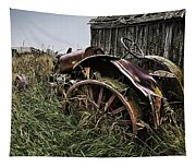 Vintage Farm Tractor Color Tapestry