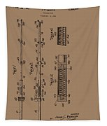 Vintage Fishing Rod Patent 1942 Tapestry