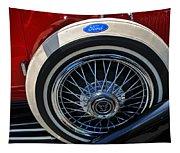 Vintage 1931 Ford Phaeton Spare Tire Tapestry