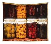 Vintage Fruit And Vegetable Preserves II Tapestry