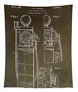 Vintage Gas Pump Patent Tapestry