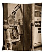 Vintage Gas Pump Showing Its Age Tapestry