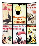 Vintage Guinness  Tapestry by Georgia Fowler