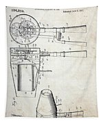 Vintage Hair Dryer Patent Tapestry