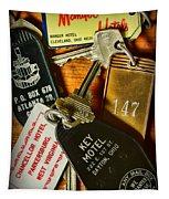 Vintage Hotel Keys Tapestry