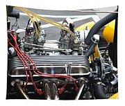 Vintage Hotrod Engine Tapestry