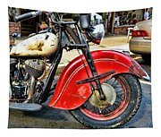 Vintage Indian Motorcycle - Live To Ride Tapestry