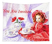 Vintage Invitation Tapestry