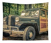 Vintage Jeep Station Wagon Tapestry