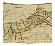 Map Of Kentucky 1812 Tapestry