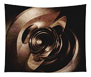 Vintage Metal Abstract Tapestry