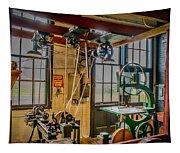 Vintage Michigan Machine Shop Tapestry