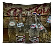 Vintage Pepsi Crate And Bottles Tapestry