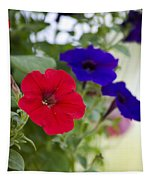 Vintage Petunia Flowers Tapestry