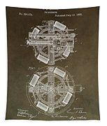 Vintage Phonograph Patent Tapestry