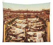 Vintage Photo Of Washing Day In New York City 1900 Tapestry