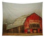Vintage Red Barn Tapestry